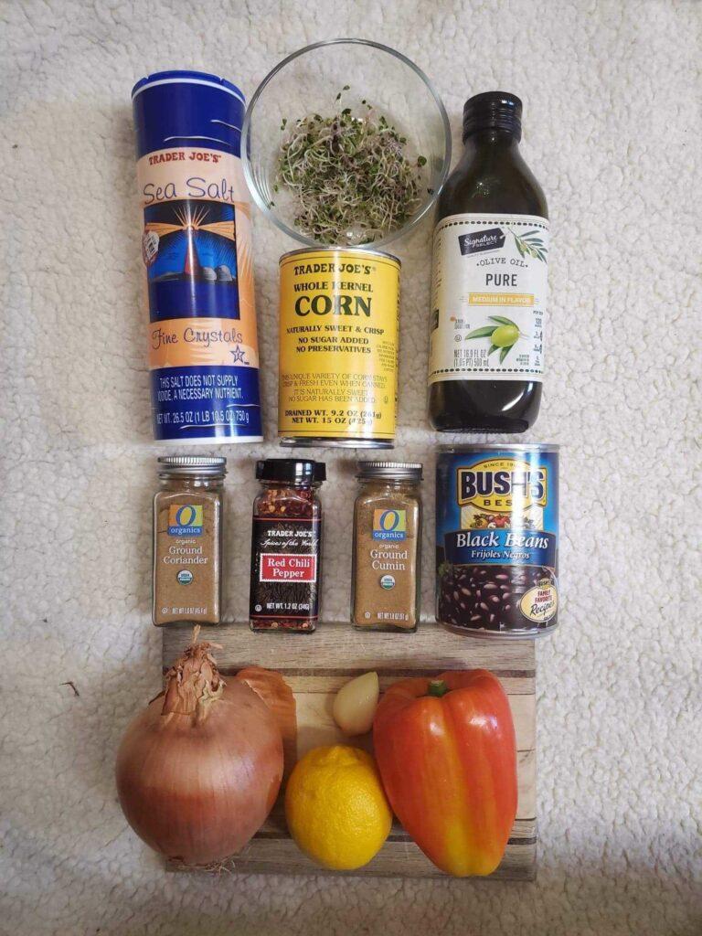 Bumblebee salad ingredients