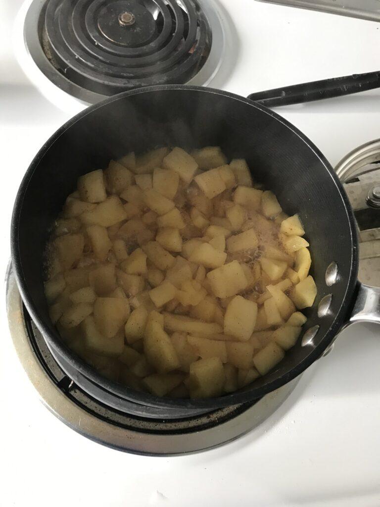 Applesauce on stove