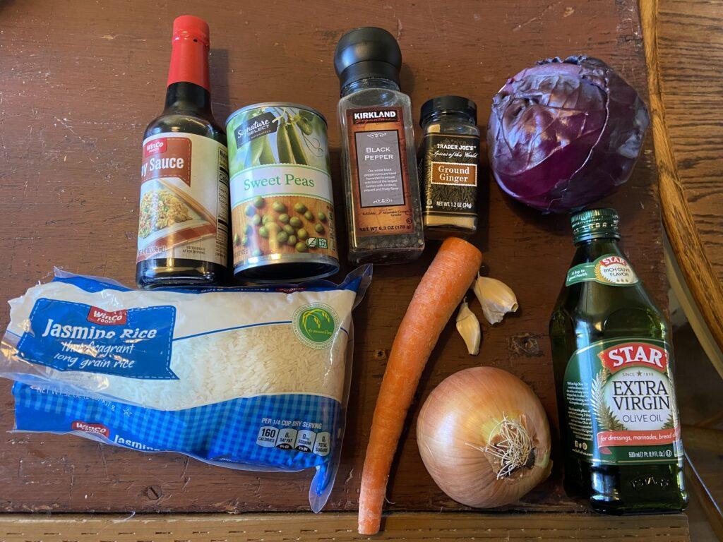 Garden stir fry ingredients