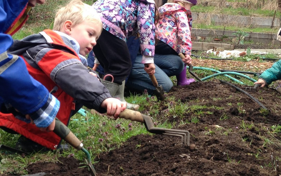 Springtime Preschool in the Garden
