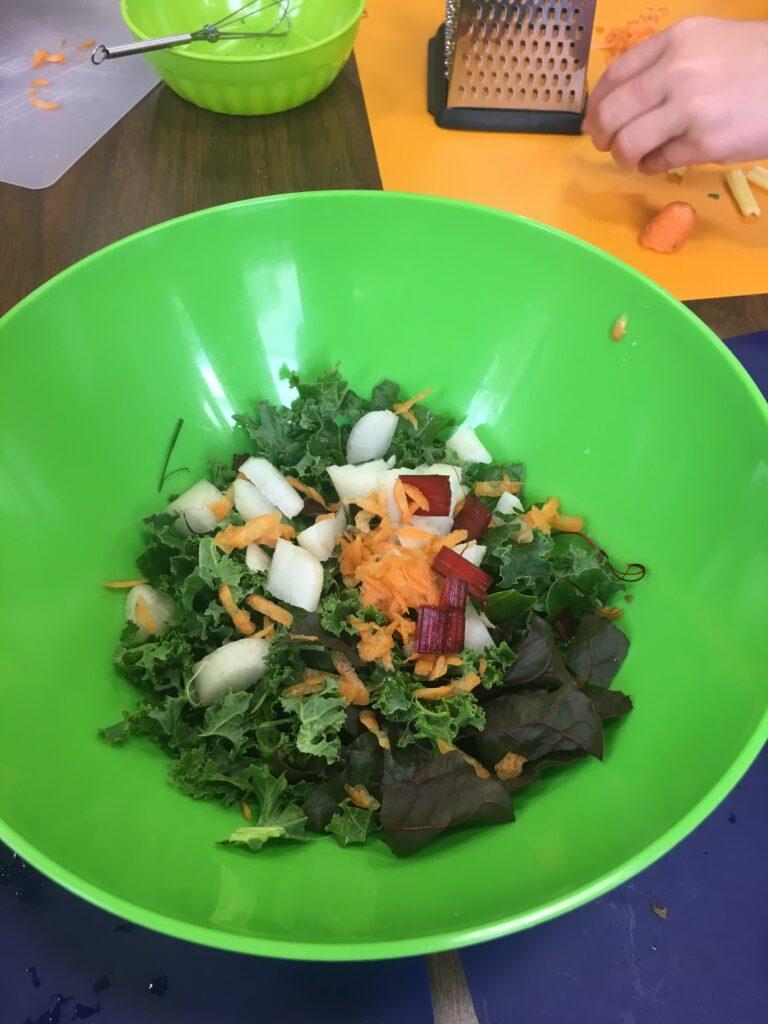 Bird's eye of kale salad