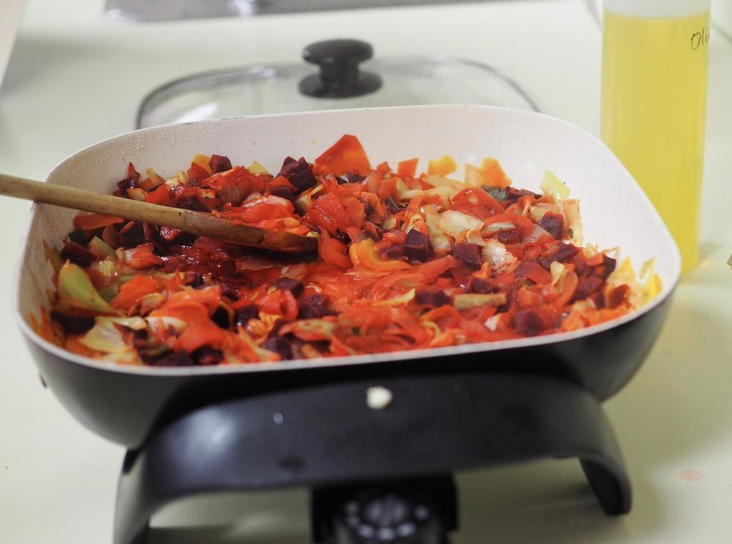 Skillet of borscht