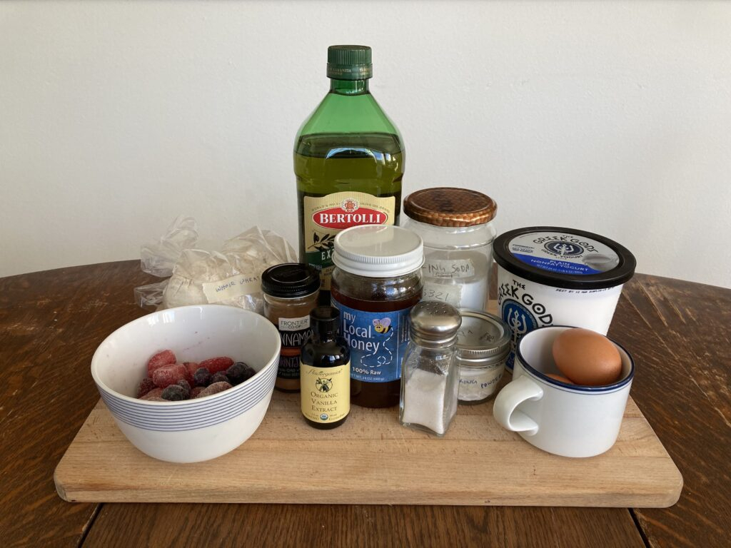 Whole wheat berry muffin ingredients