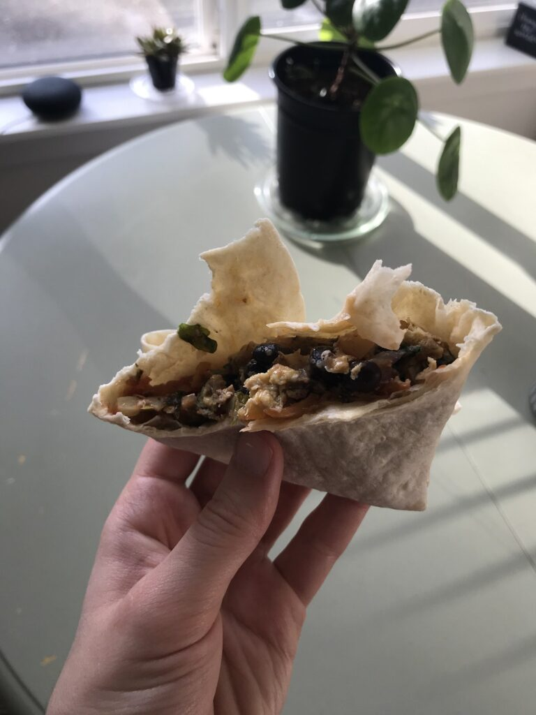 Eaten breakfast burrito