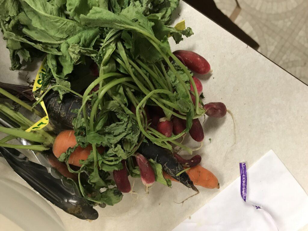 Root vegetable latke ingredients