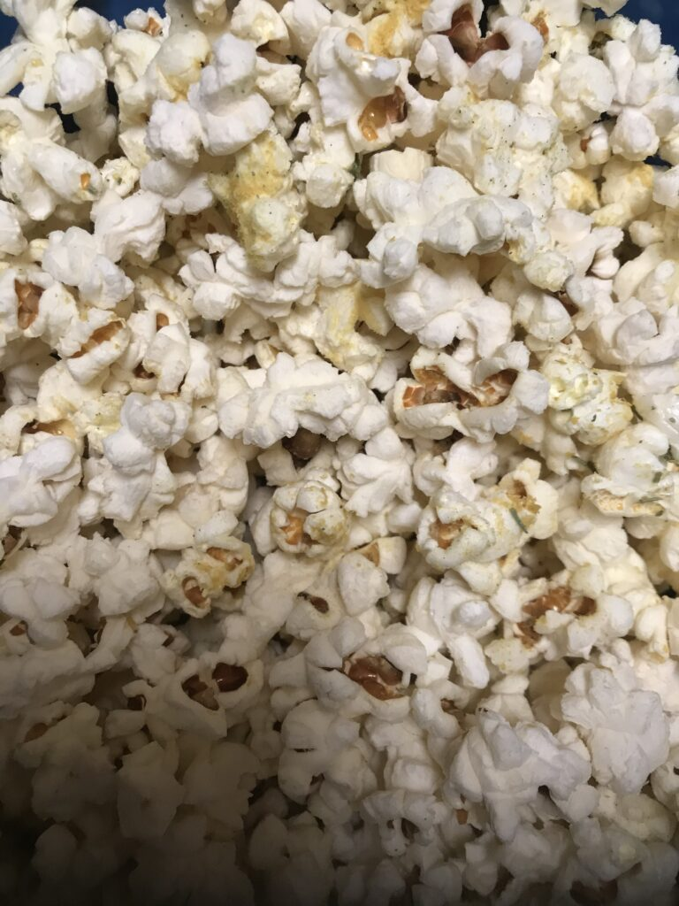 Close-up of popcorn with a twist