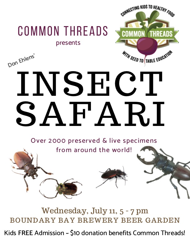 Insect Safari benefit for Common Threads July 11
